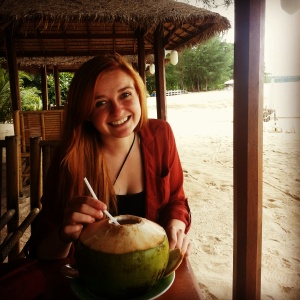 Enjoying the finer things in life:) Coconuts and a 5 star beach resort for the afternoon