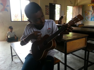 Siphul playing the ukulele.